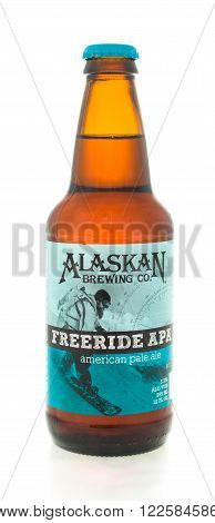 winneconne WI - 3 February 2015: Alaskan beer was first brewed in 1986 and located in Juneau AK.