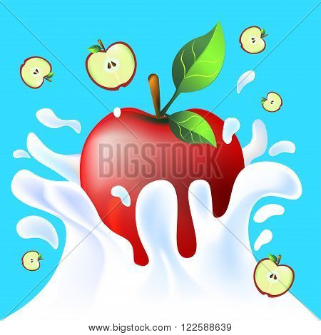One Apple In Yoghurt