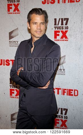Timothy Olyphant at the Season 3 premiere screening of