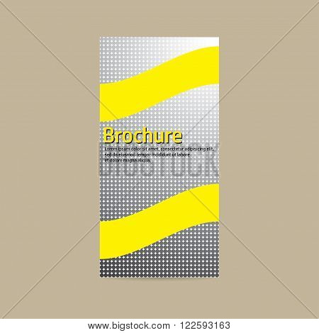 Vector design for business brochures. Gray mosaic with gold inlays.