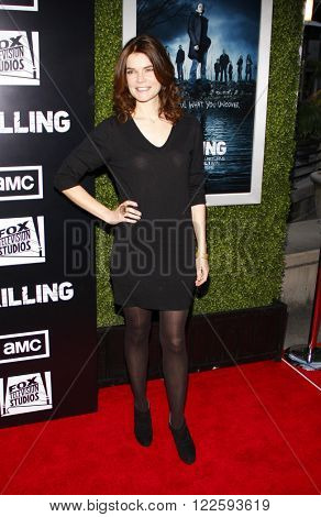 Betsy Brandt at the Los Angeles Season 2 premiere of AMC's 'The Killing' held at the ArcLight Cinemas in Hollywood, USA on March 26, 2012.