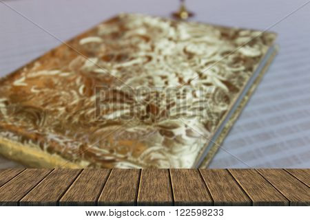 Book With Golden Hardcover