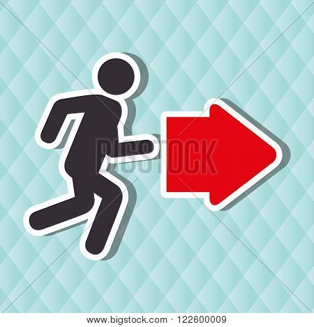 emergency route design, vector illustration eps10 graphic
