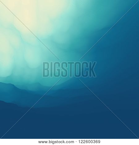 The Underwater World. Vector Illustration For Your Design. Can Be Used For Banner, Flyer, Book Cover, Poster, Web Banners.