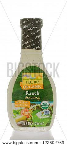 Winneconne WI - 25 Feb 2016: Bottle of Field day organic salad dressing in ranch flavor