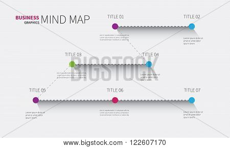 vector information map for infographic in modern style for business presentation
