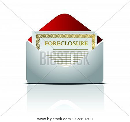 Real estate foreclosure notice letter