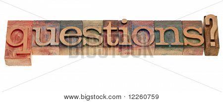 Questions In Letterpress Type