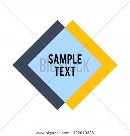 Rhombus and square shape with sample text. Abstract Rhombus Geometric Background. Modern Geometric. Rhombus Design Template