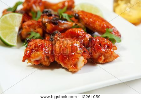 Asian Barbecued Chicken Wings