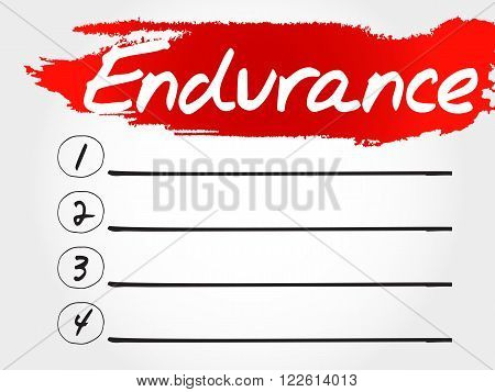 Endurance Blank List