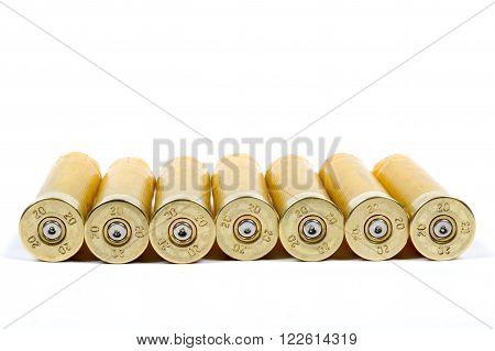 A Line of Used Shot Gun Shells