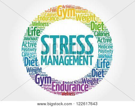 Stress Management Circle Stamp