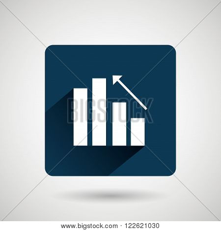 statistics icon design, vector illustration eps10 graphic