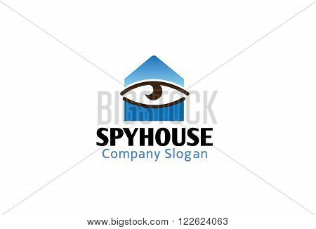 Spy House Design Creative Illustration Symbolic Surveillance