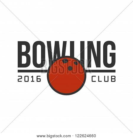Vector bowling logotype. Template for bowling club, tournament, champion