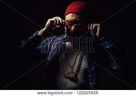 Middle Aged Man With Golden Jewelry