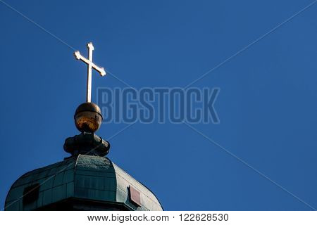 latin cross on a roof