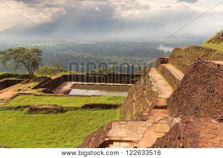 The ancient palace of SIGIRIYA in Sri Lanka