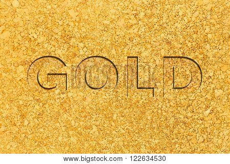 A background consisting of natural placer gold nuggets