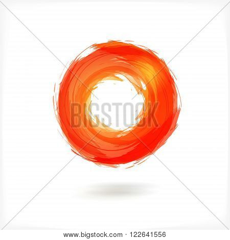 Red Business Abstract Circle icon. vector logo design template for Corporate, Media, Technology style.