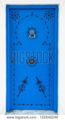 Andalusian Style Blue Door From Sidi Bou Said