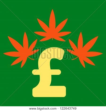 Cannabis Pound Business vector icon. Cannabis Pound Business icon symbol. Cannabis Pound Business icon image. Cannabis Pound Business icon picture. Cannabis Pound Business pictogram.