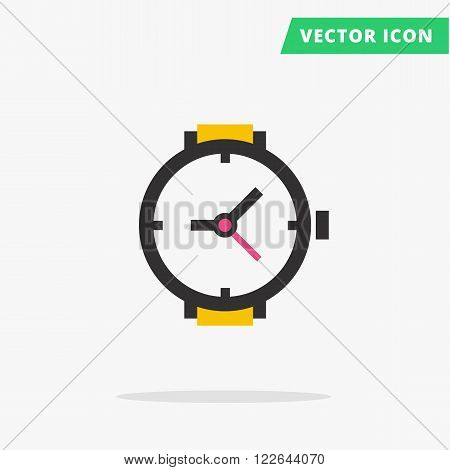 Wrist Watch icon Vector illustration, flat clock arrows black silhouette watch hand sign, simple time icon with color elements vector watch image