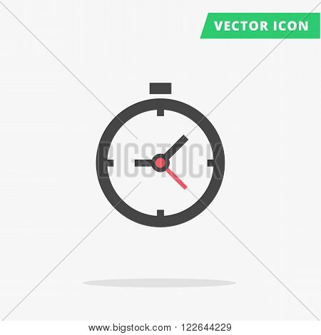 Clock icon Vector illustration, flat clock arrows black silhouette watch sign, simple time icon with color element arrow vector watch image