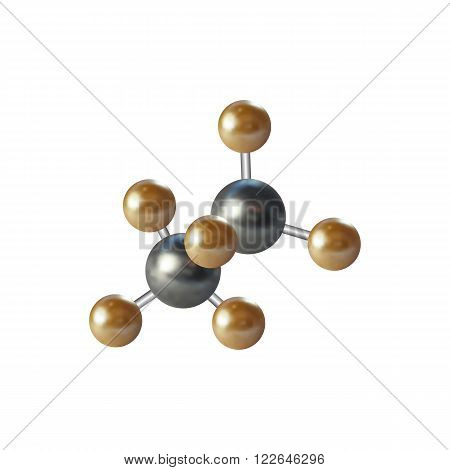 Medical scientific cell. Abstract graphic design of molecule structure, vector illustration.