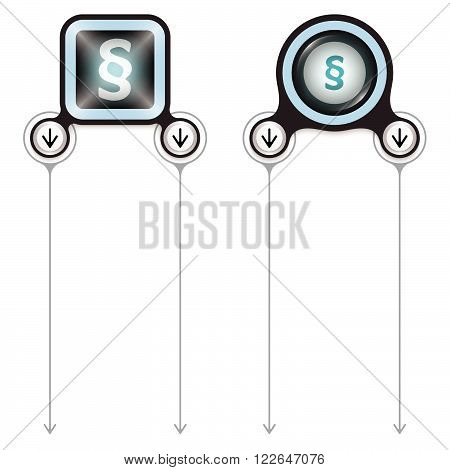 Two abstract frames for your text and paragraph