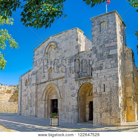 The St Anne's Church was built over the site of grotto that is the birthplace of the Virgin Mary and preserved since Crusader times Jerusalem Israel. ** Note: Soft Focus at 100%, best at smaller sizes