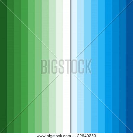 Abstract colorful business background, blue and green colors, modern stylish striped vector texture for your cover design.