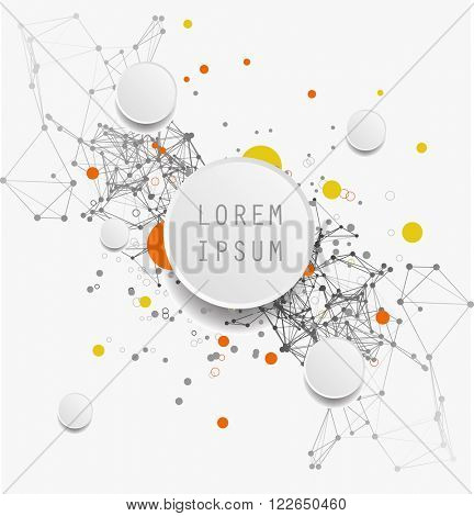 Science and  technology abstract background vector illustration.