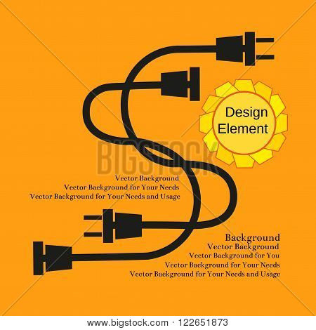 Creative Typography Poster Concept of Unplugged electric wire plugs and sockets. Flat design. Idea for flyer banner poster sticker web icon. Vector Illustration.