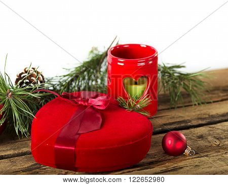 Christmas Red Heart Gift
