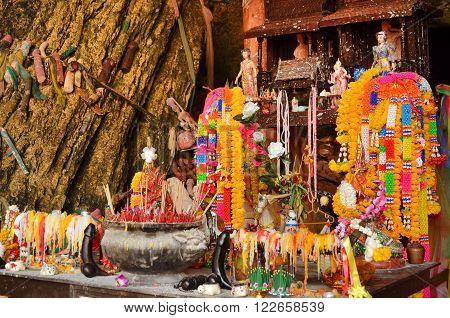 KRABI THAILAND - March 19 2015: Phra Nang Shrine Temple