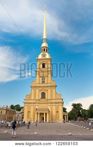 Peter and Paul Cathedral in in Saint-Petersburg Russia