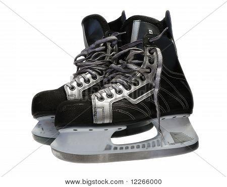 As modas de hóquei no gelo de preto sobre branco