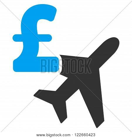 Aviation Pound Business vector icon. Aviation Pound Business icon symbol.