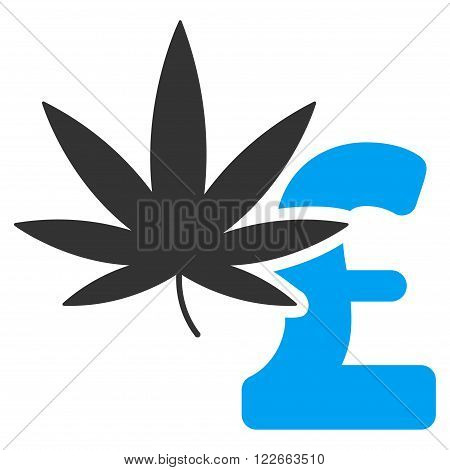 Marijuana Pound Business vector icon. Marijuana Pound Business icon symbol. Marijuana Pound Business icon image. Marijuana Pound Business icon picture. Marijuana Pound Business pictogram.