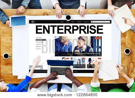 Enterprise Establishment Operation Franchise Firm Concept