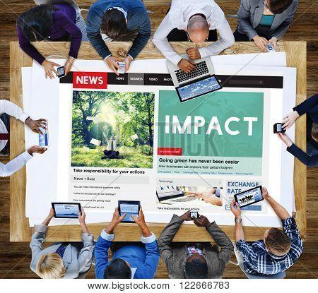 Impact Inspire Effect Collision Impression Concept