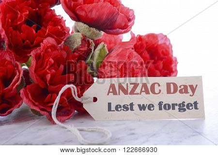 Anzac Day Poppies Lest We Forget