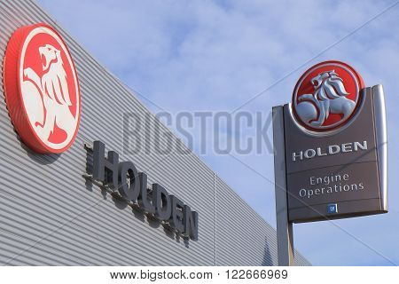 MELBOURNE AUSTRALIA - MARCH 2, 2016: Holden Car manufacture plant. Holden is an Australian automaker operates in Australia founded in 1856 as a saddlery manufacture.