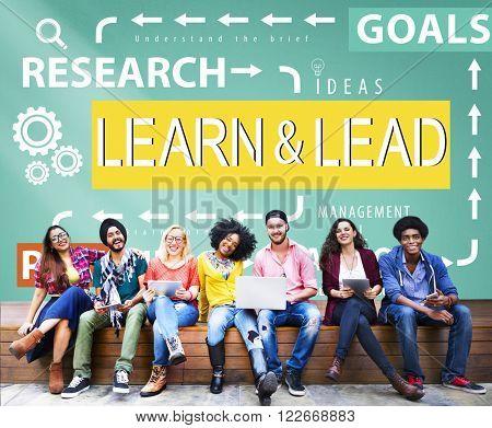 Learn & Lead Leadership Management Development Concept