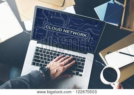 Cloud Network Connection Networking Technology Concept