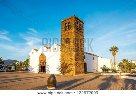 Church of Nuestra Senora De La Candelaria in La Oliva village on the nothern part of Fuerteventura island