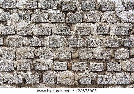 abstact cement brick wall texture closeup .
