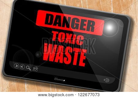 Toxic waste sign with some smooth lines